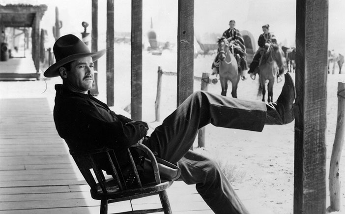 Image result for my darling clementine 1946 wyatt sitting back in chair